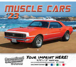 Muscle Cars Wall Calendar  - Stapled
