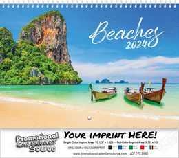 Scenic Beaches Wall Calendar  - Spiral