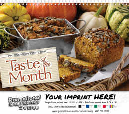 Taste of the Month Wall Calendar 2019 Spiral