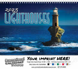 Lighthouses Wall Calendar  - Spiral