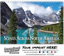 Scenes Across America Wall Calendar , Spiral