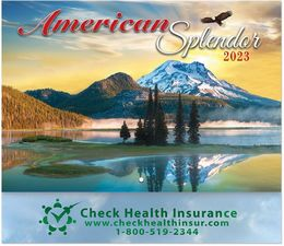 America Splendor Promotional Wall Calendar 2019 - Stapled - Foil Stamped Ad Copy