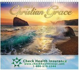 Christian Grace Wall Calendar 2019 - Spiral, Metallic Foil Stamped Ad