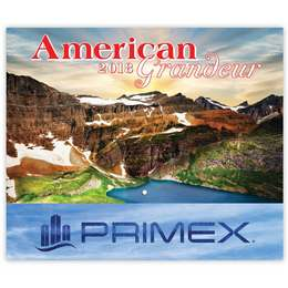American Grandeur Wall Calendar 2019 - Stapled, Foil Stamped Ad Copy