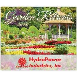 Gardens Retreats Wall Calendar 2018 - Stitched, Metallic Foil Stamped Ad, Nature, Gardens Calendar