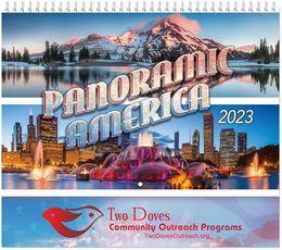 Panoramic America Wall Calendar 2019 - Spiral, Metallic Foil Stamped Ad, Scenic America Calendar