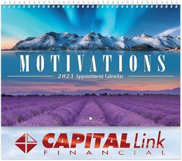 Motivations Appointment Wall Calendar - Spiral, Metallic Foil Stamped Ad
