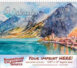 Water Colors art Wall Calendar Spiral