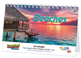 Promotional Tent Desk Calendar Beaches