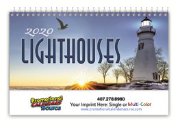 Lighthouses Promotional Desk Calendar 2019