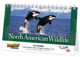Wildlife Promotional Desk Calendar 2019