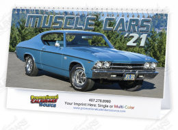 Muscle Cars Automotive Desk Calendar Spiral Binding
