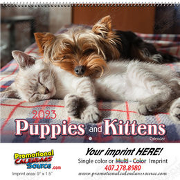 Puppies & Kittens  Wall Calendar - Spiral