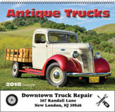 Antique Trucks Promotional Calendar 2018 Spiral