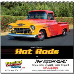 Hot Rods Promotional Wall Calendar 2019 Spiral