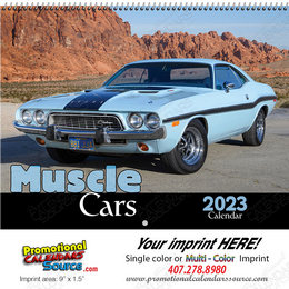 Muscle Cars Promotional Wall Calendar  Spiral