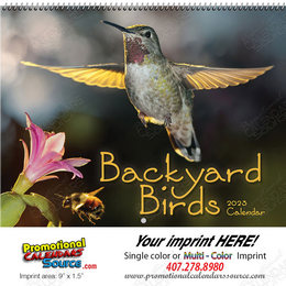 Backyard Birds Wall Calendar 2019 Spiral