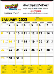 Commercial Planner Promotional Calendar  Yellow & Black