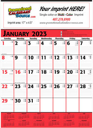 Commercial Planner Calendar Red & Black
