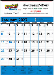 Commercial Planner Calendar Blue & Black