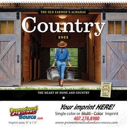 The Old Farmer's Almanac Country Calendar - Spiral