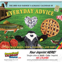 The Old Farmer's Almanac Home Hints Calendar, Spiral