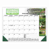22x17 Desk Pad Calendar 4-Color Header & Side Ad Copy