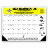 22x17 Desk Pad Calendar with Black Grid & 2 Imprint Areas