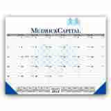 Customized 22x17 Desk Pad Calendar with Black Grid