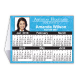 Calendar Tent Card  Printed in 4-Color Process 3x4