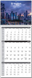 3 Month Spiral Wall Calendar (2Panel) w Full Color Imprint