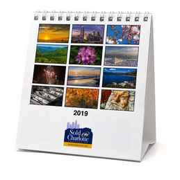 Custom Desk Tent Calendar 4.75 x 5.25