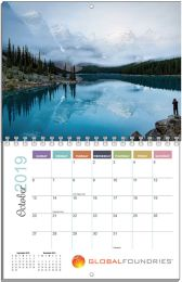 Monthly Custom Wall Calendar Spiral Bound 11x17
