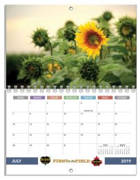 Custom Mini Photo Wall Calendar, Spiral 8.5x11