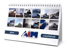Custom Desk Tent Calendar 8.5 x 5.5