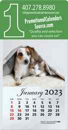 Kittens & Puppies Stick-Up Calendar with Full-Color Pad