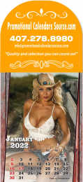 Country Girls Billboard Stick-Up Calendar