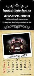 Classic Cars Large Square Adhesive Calendar