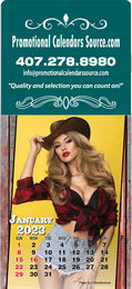 Country Girls Large Header Stick-Up Calendar