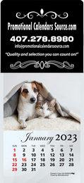 Kittens & Puppies Jumbo Square Adhesive Calendar