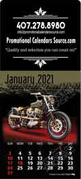 Motorcycles Large Square Stick-Up Calendar
