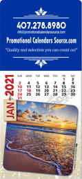 Scenic Views Adhesive Calendar with Large Rectangle Shaped Top