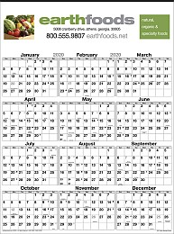 12 Month Business Planner Wall Calendar Size 18x24.5