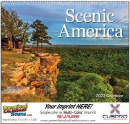Scenic America Wall Calendar  - Spiral