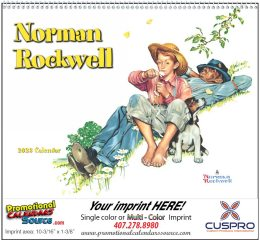 Wonderful World of Norman Rockwell Promotional Calendar 2018 Spiral