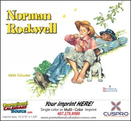 Wonderful World of Norman Rockwell Calendar 2018 - Stapled