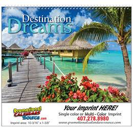Destination Dreams Promotional Wall Calendar 2019 Spiral