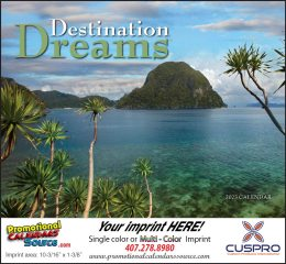 Destination Dreams Promotional Calendar 2019 - Stapled