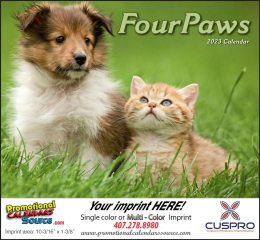 Four Paws Promotional Calendar  - Stapled