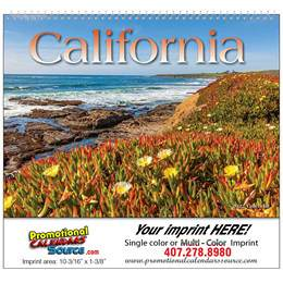 State of California Wall Calendar  - Spiral